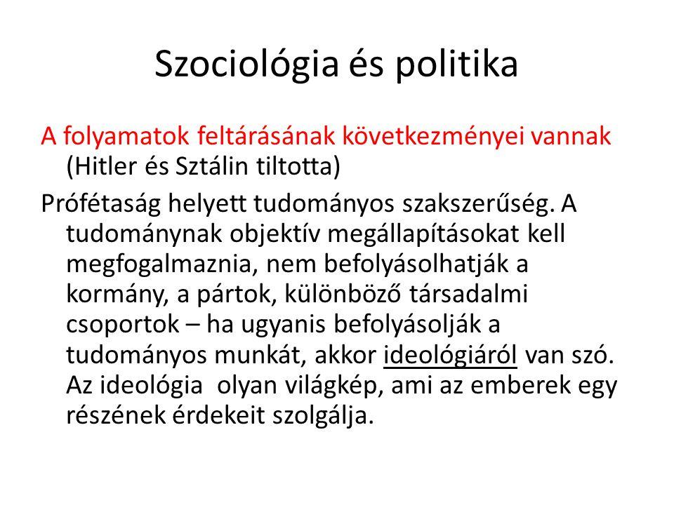 Szociológia és politika