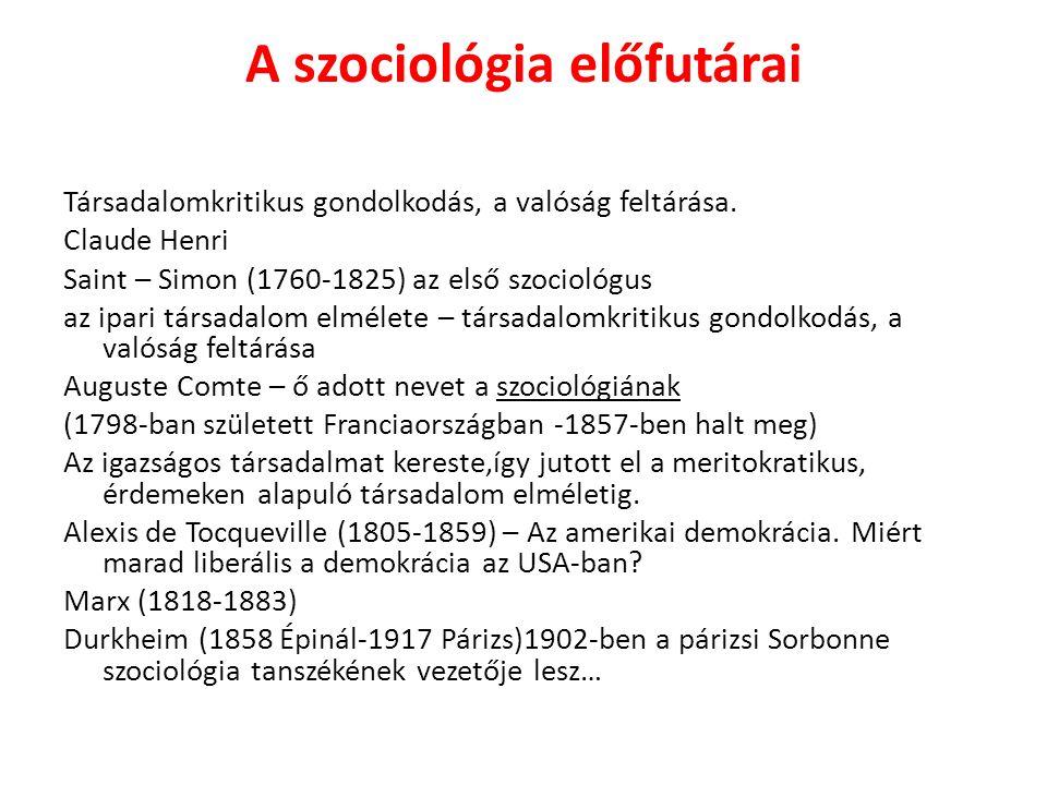 A szociológia előfutárai