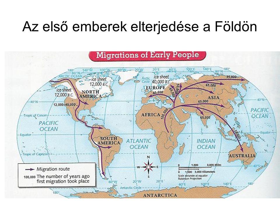 Az első emberek elterjedése a Földön