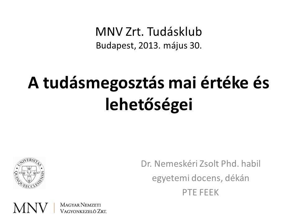 Dr. Nemeskéri Zsolt Phd. habil egyetemi docens, dékán PTE FEEK