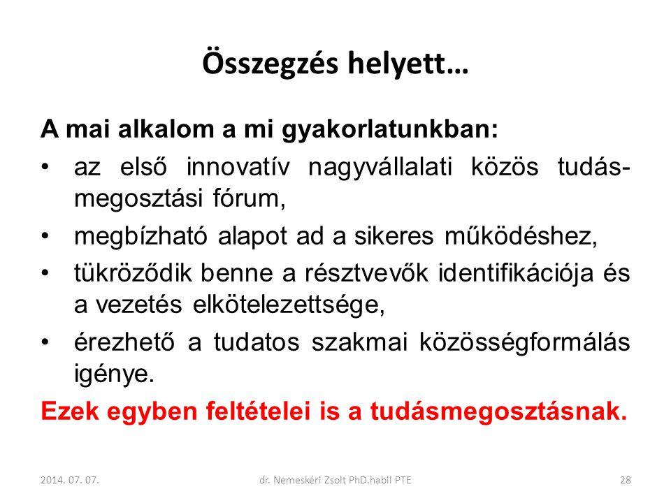 dr. Nemeskéri Zsolt PhD.habil PTE