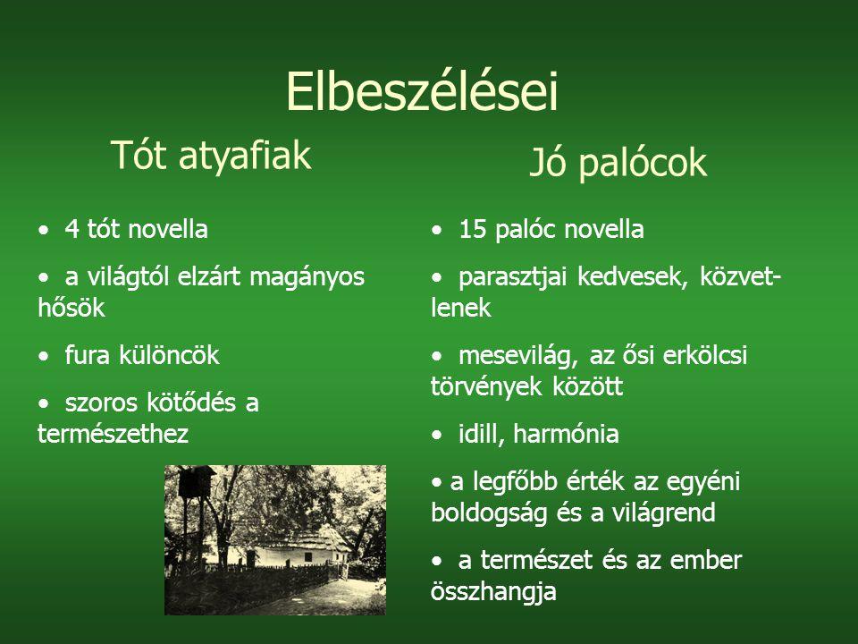 Elbeszélései Tót atyafiak Jó palócok 4 tót novella