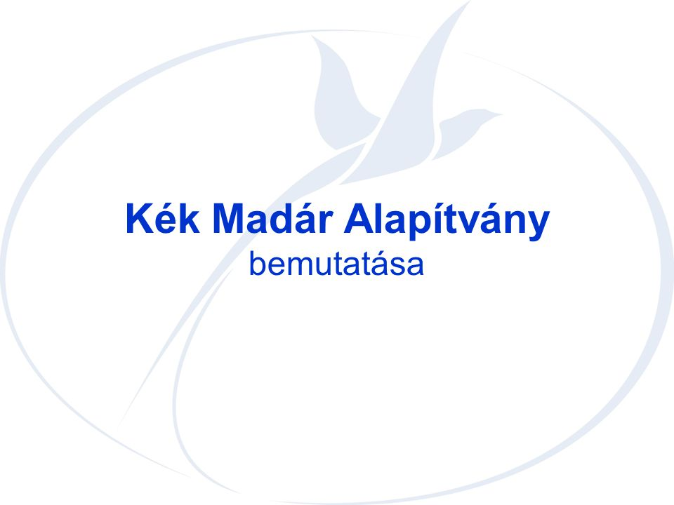 Kék Madár Alapítvány bemutatása
