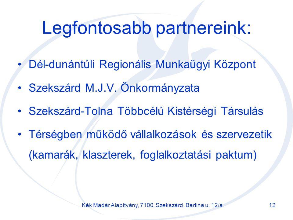 Legfontosabb partnereink: