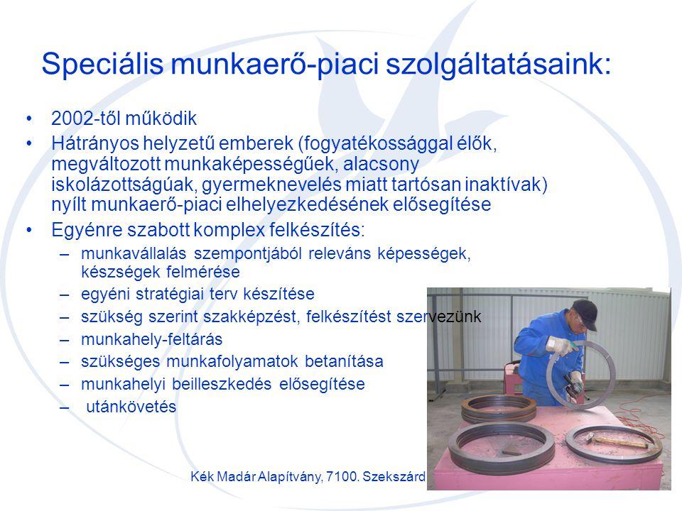 Speciális munkaerő-piaci szolgáltatásaink: