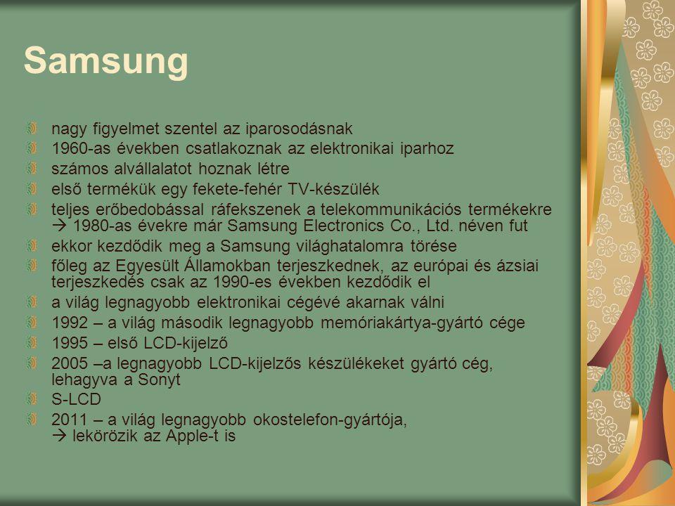 Samsung nagy figyelmet szentel az iparosodásnak