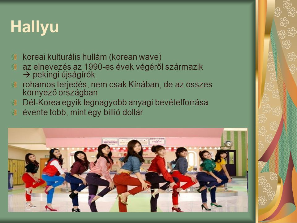 Hallyu koreai kulturális hullám (korean wave)