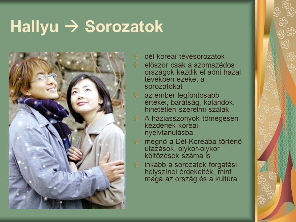 Hallyu  Sorozatok dél-koreai tévésorozatok