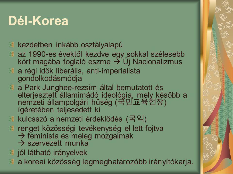 Dél-Korea kezdetben inkább osztályalapú