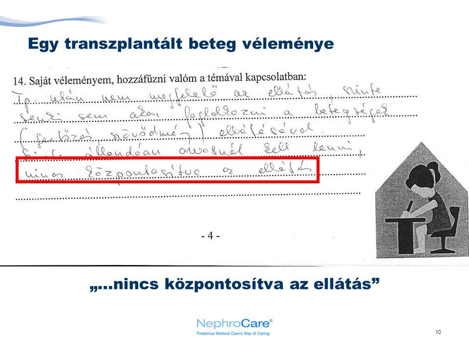Egy transzplantált beteg véleménye