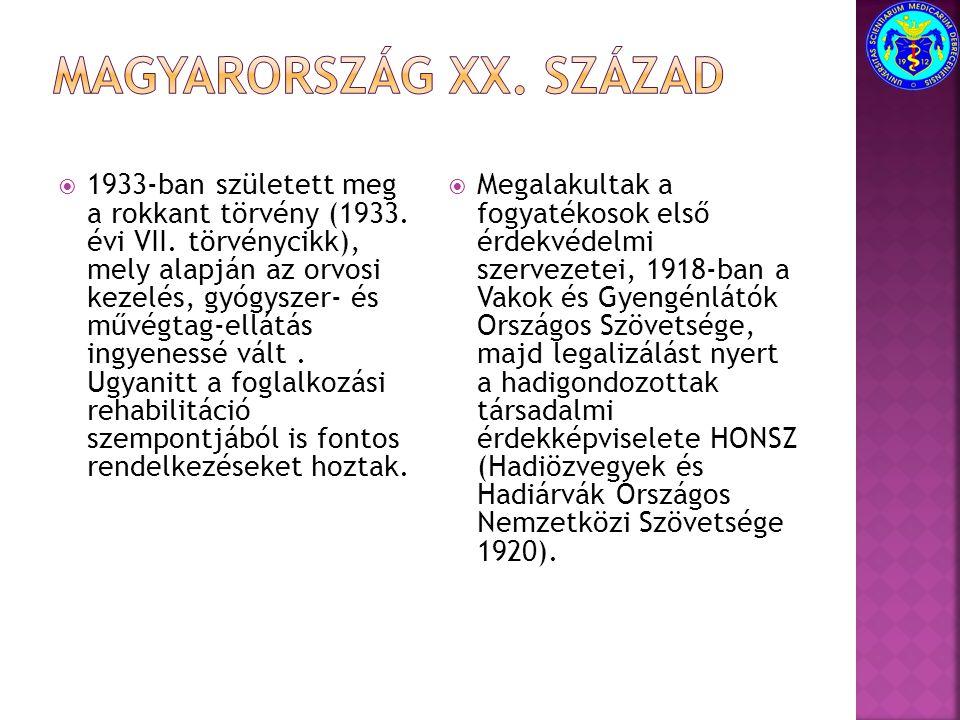 Magyarország XX. század