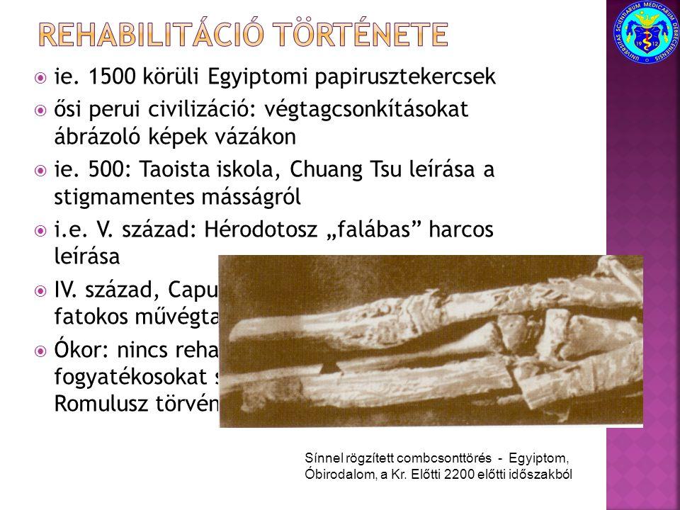 Rehabilitáció története