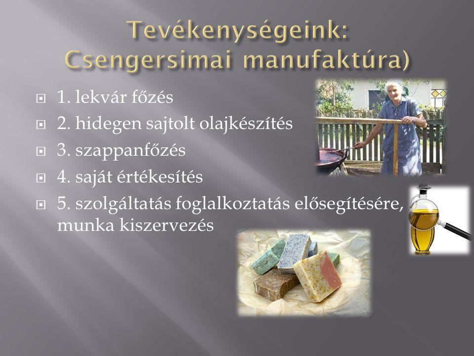 Tevékenységeink: Csengersimai manufaktúra)