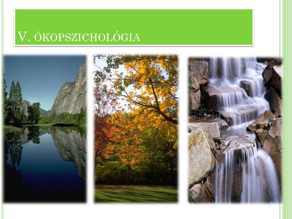 V. ökopszichológia