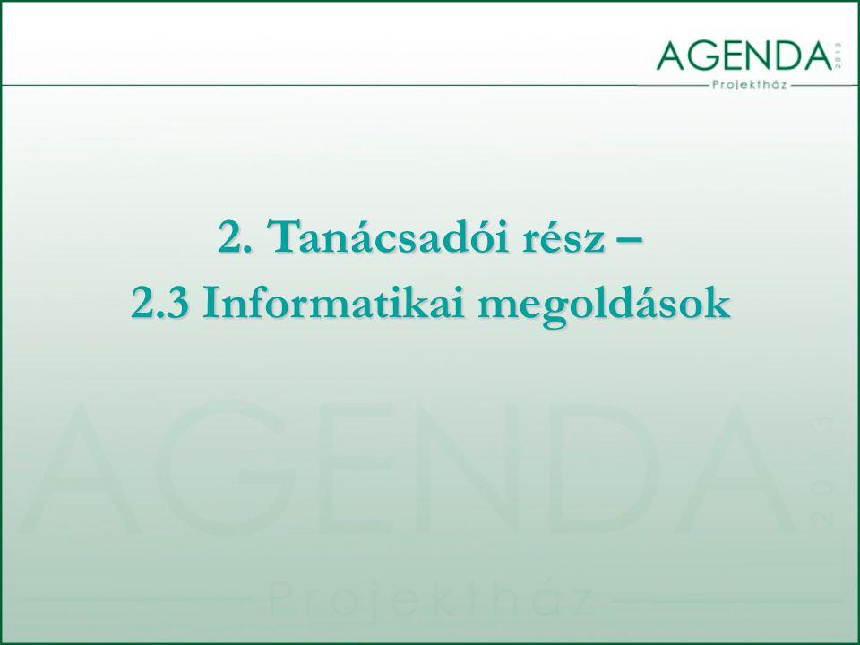 2.3 Informatikai megoldások