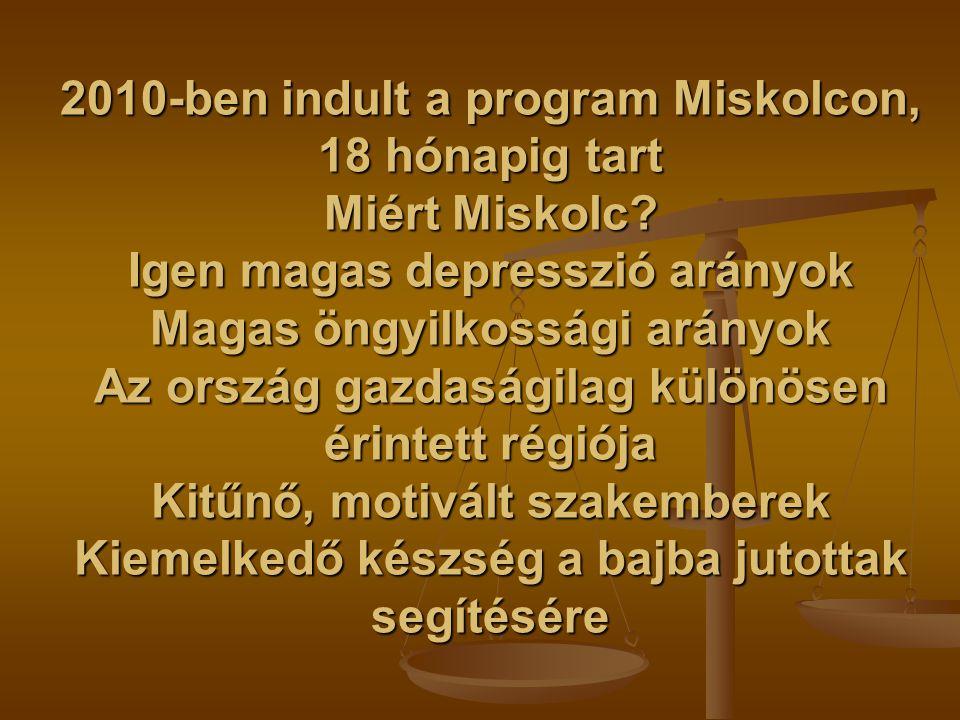 2010-ben indult a program Miskolcon, 18 hónapig tart Miért Miskolc