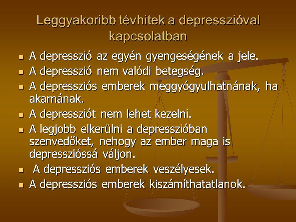 Leggyakoribb tévhitek a depresszióval kapcsolatban