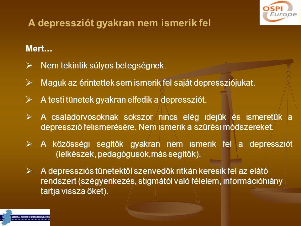 A depressziót gyakran nem ismerik fel