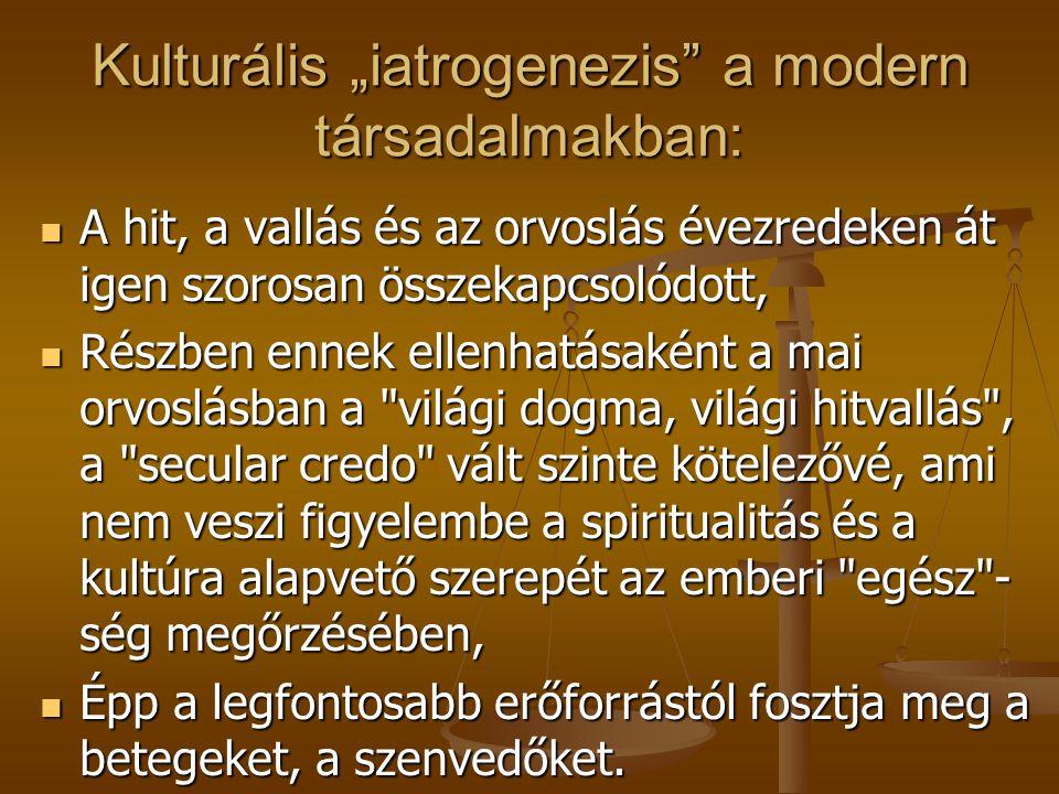 """Kulturális """"iatrogenezis a modern társadalmakban:"""