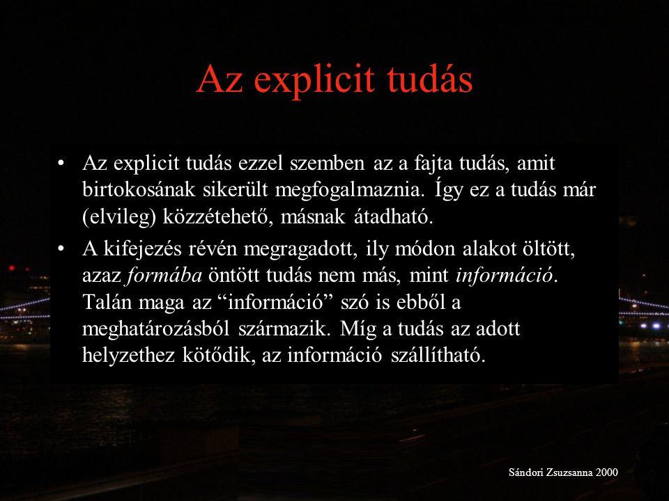 Az explicit tudás