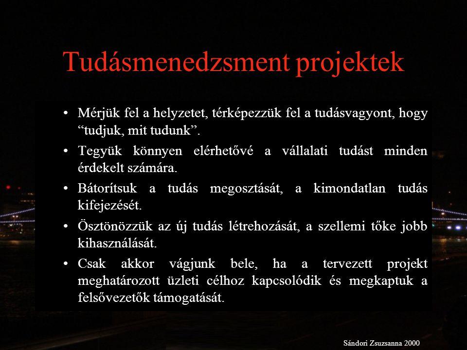 Tudásmenedzsment projektek