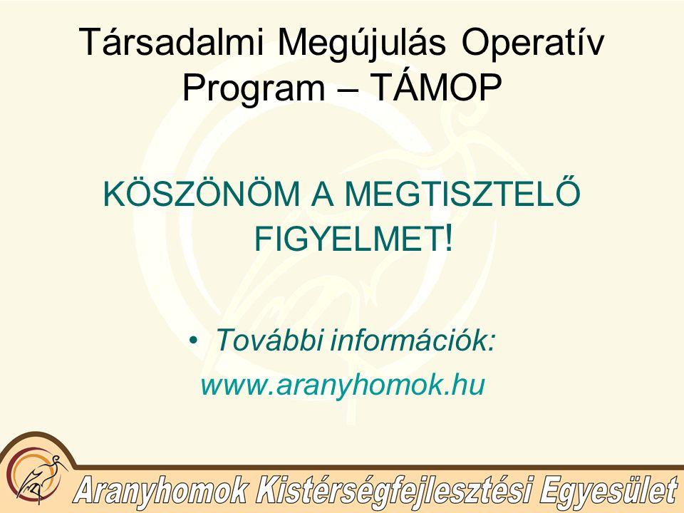 Társadalmi Megújulás Operatív Program – TÁMOP