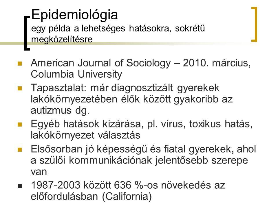 Epidemiológia egy példa a lehetséges hatásokra, sokrétű megközelítésre