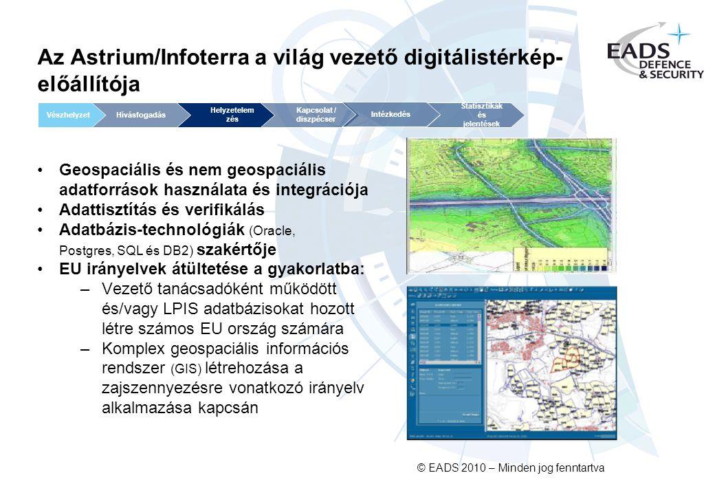 Az Astrium/Infoterra a világ vezető digitálistérkép-előállítója