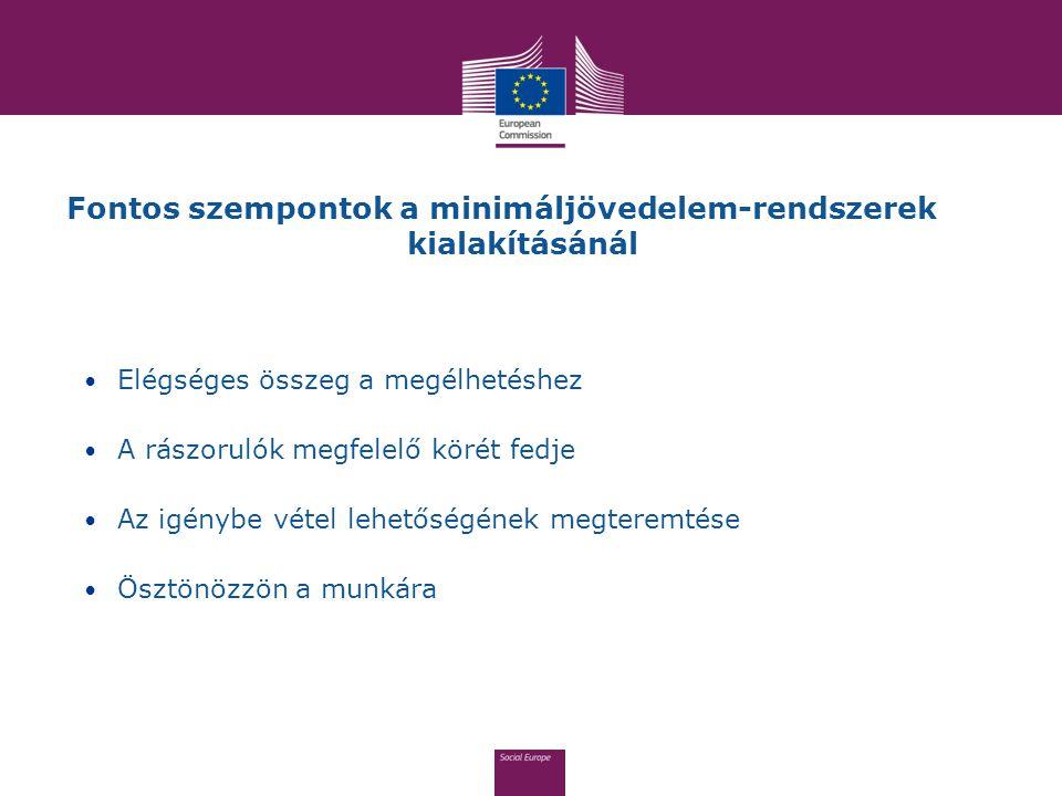 Fontos szempontok a minimáljövedelem-rendszerek kialakításánál