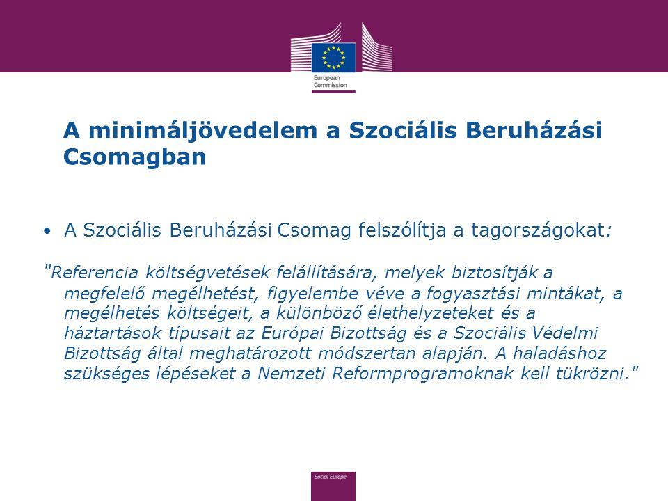 A minimáljövedelem a Szociális Beruházási Csomagban