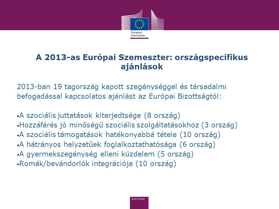 A 2013-as Európai Szemeszter: országspecifikus ajánlások