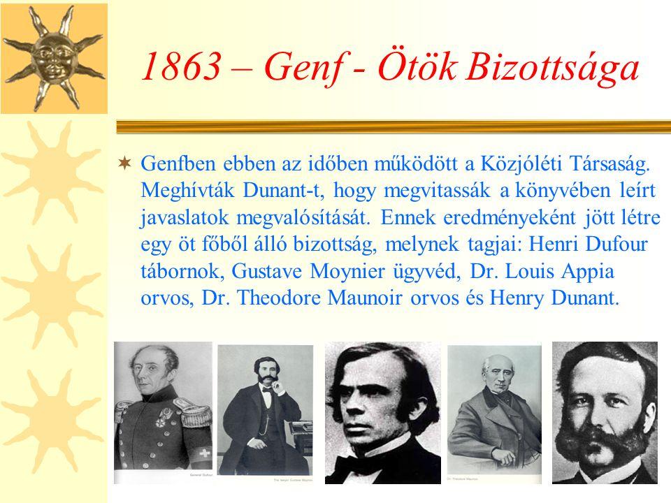 1863 – Genf - Ötök Bizottsága