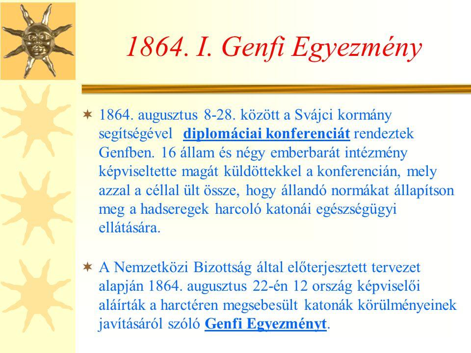 1864. I. Genfi Egyezmény