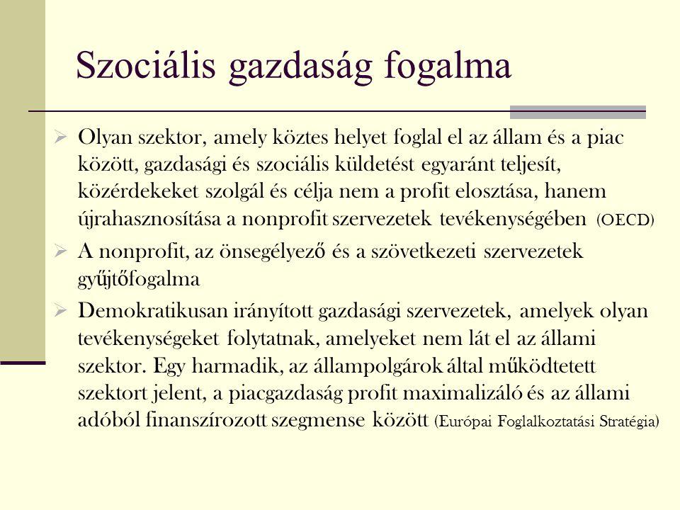 Szociális gazdaság fogalma
