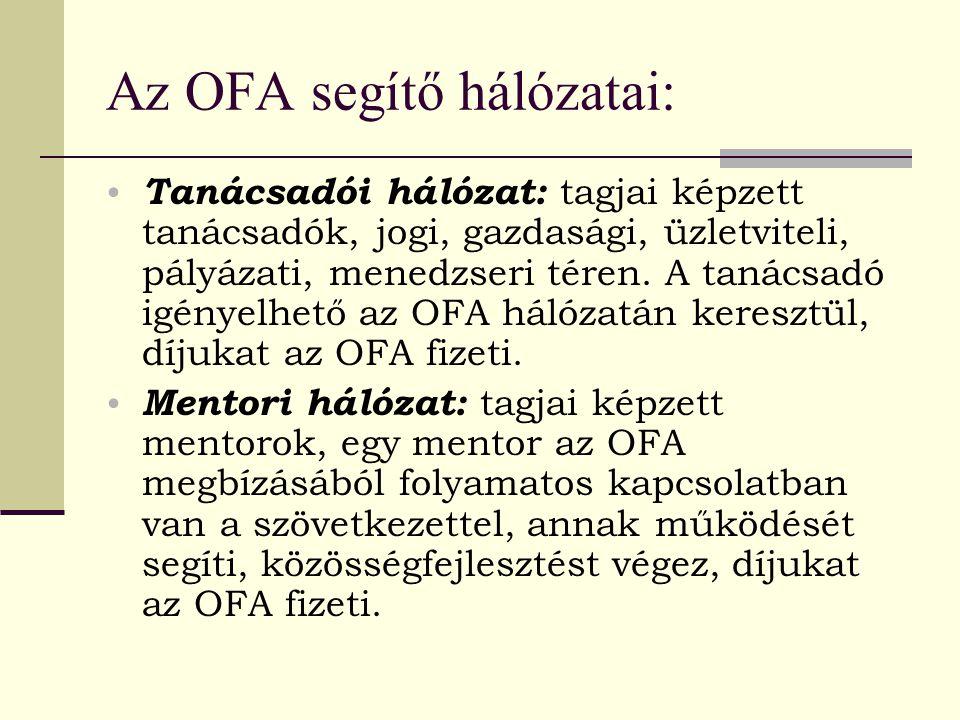 Az OFA segítő hálózatai: