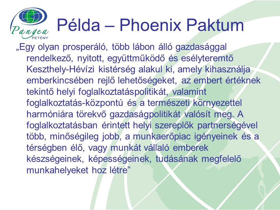 Példa – Phoenix Paktum