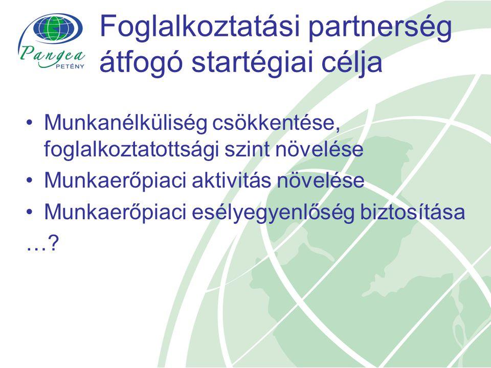 Foglalkoztatási partnerség átfogó startégiai célja
