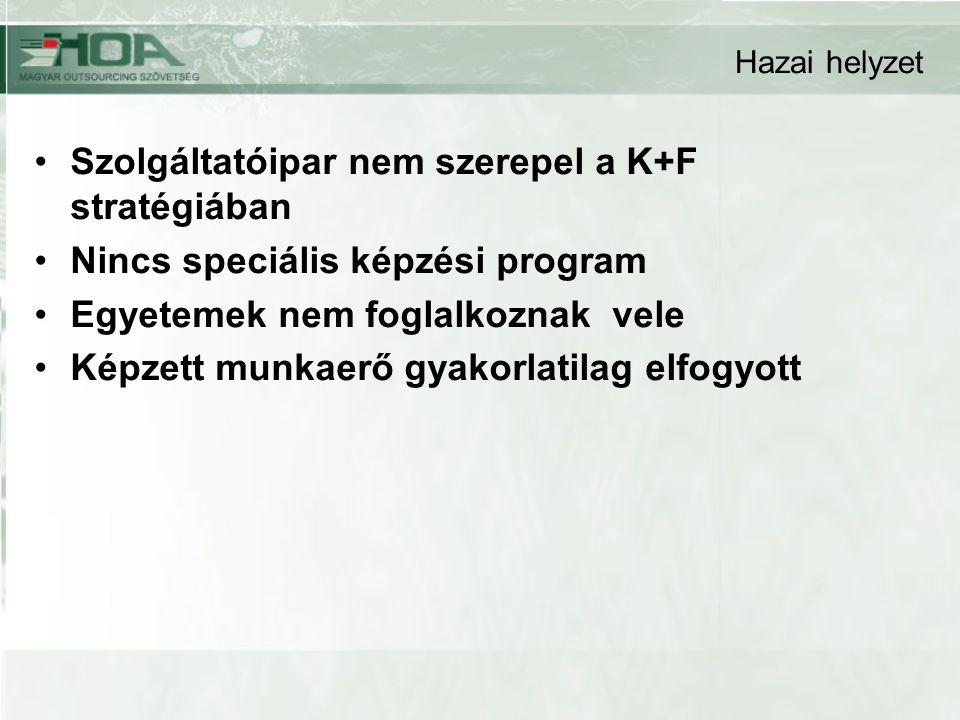 Szolgáltatóipar nem szerepel a K+F stratégiában