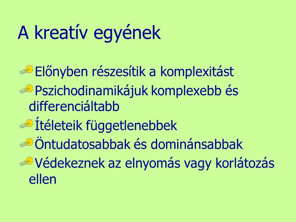 A kreatív egyének Előnyben részesítik a komplexitást