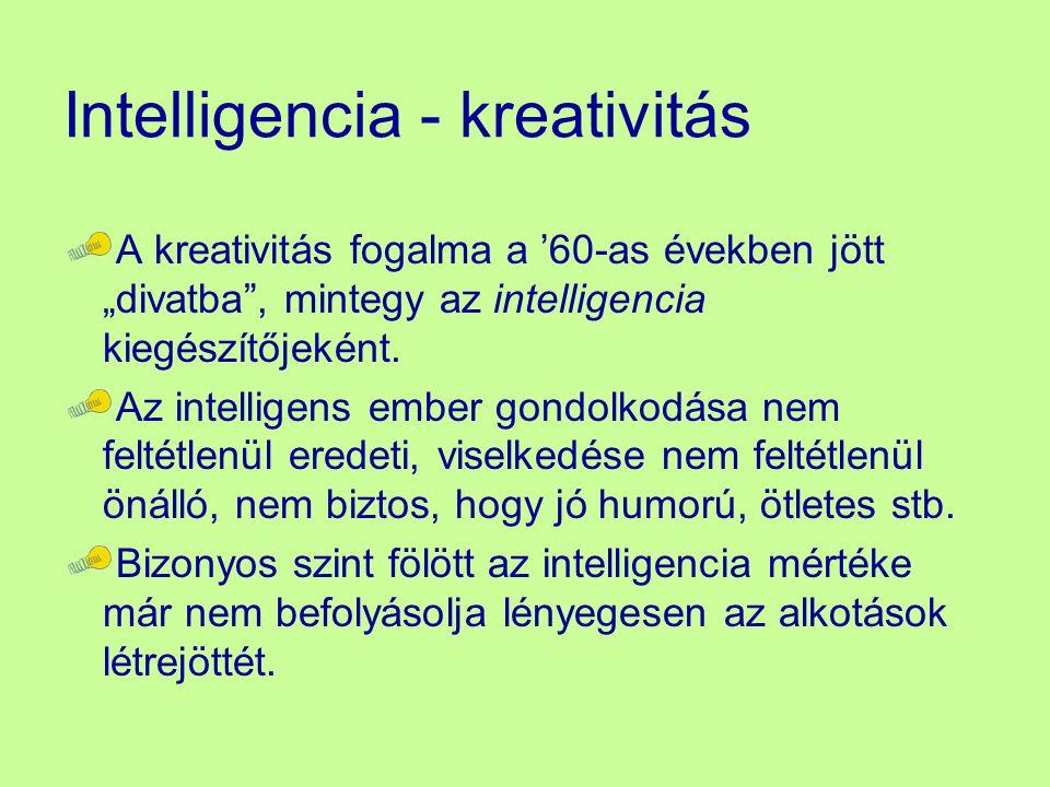 Intelligencia - kreativitás