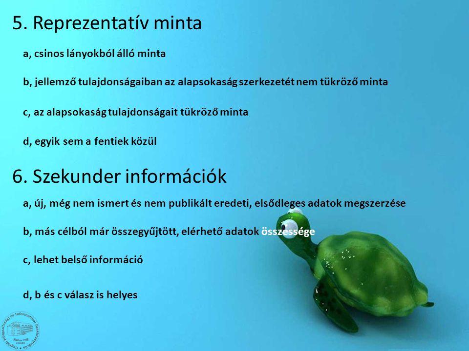 6. Szekunder információk
