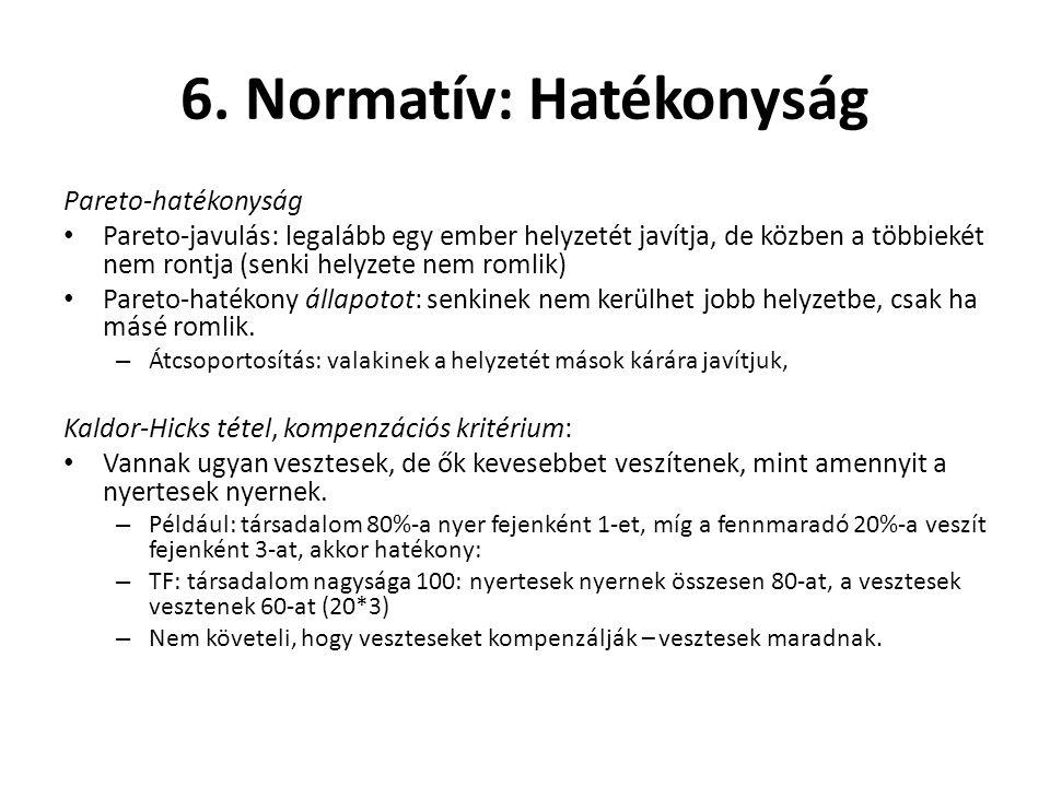6. Normatív: Hatékonyság