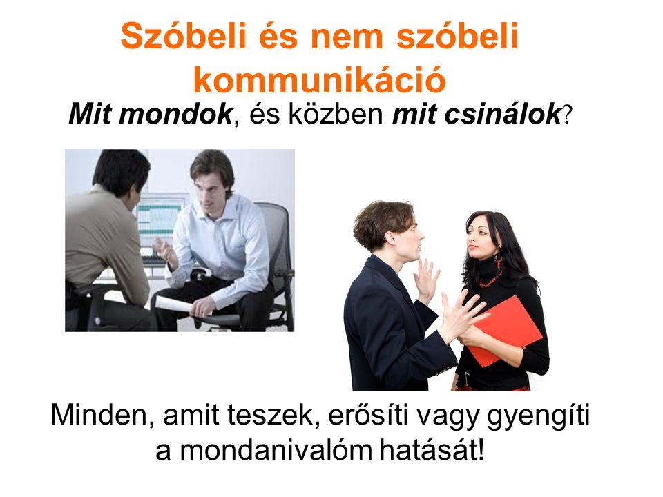 Szóbeli és nem szóbeli kommunikáció