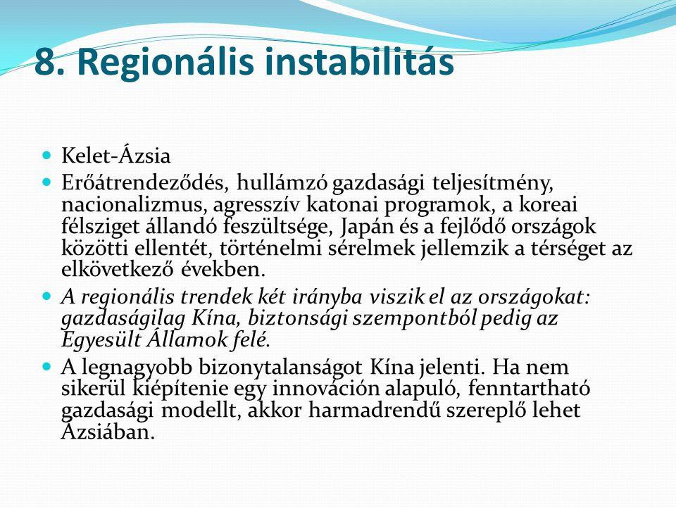 8. Regionális instabilitás