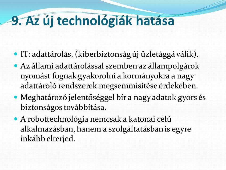 9. Az új technológiák hatása