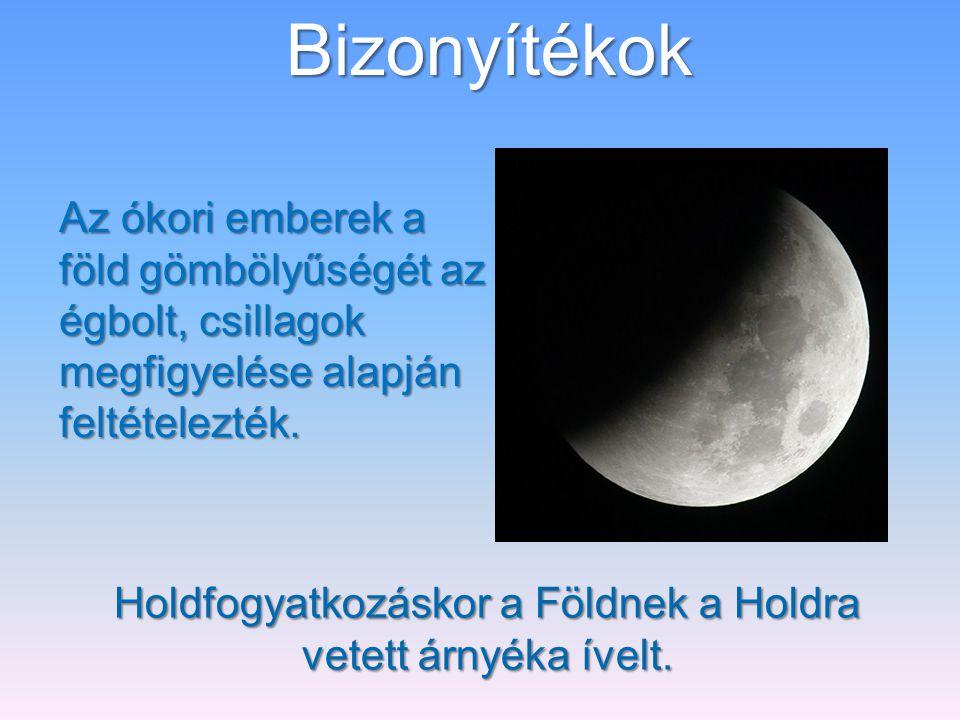Holdfogyatkozáskor a Földnek a Holdra vetett árnyéka ívelt.