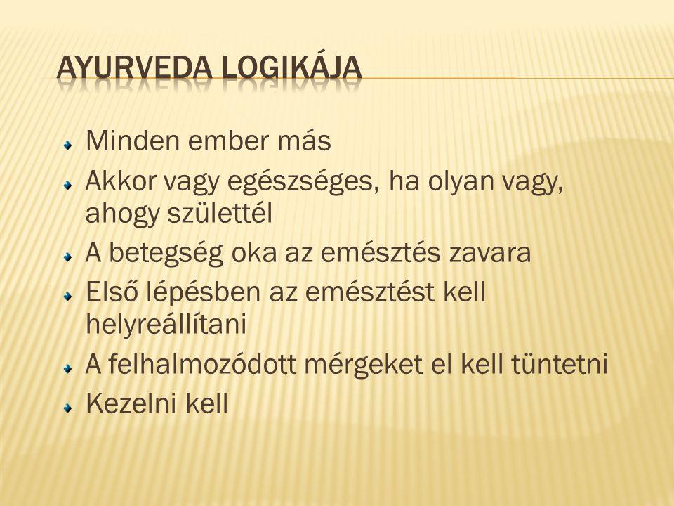 Ayurveda logikája Minden ember más