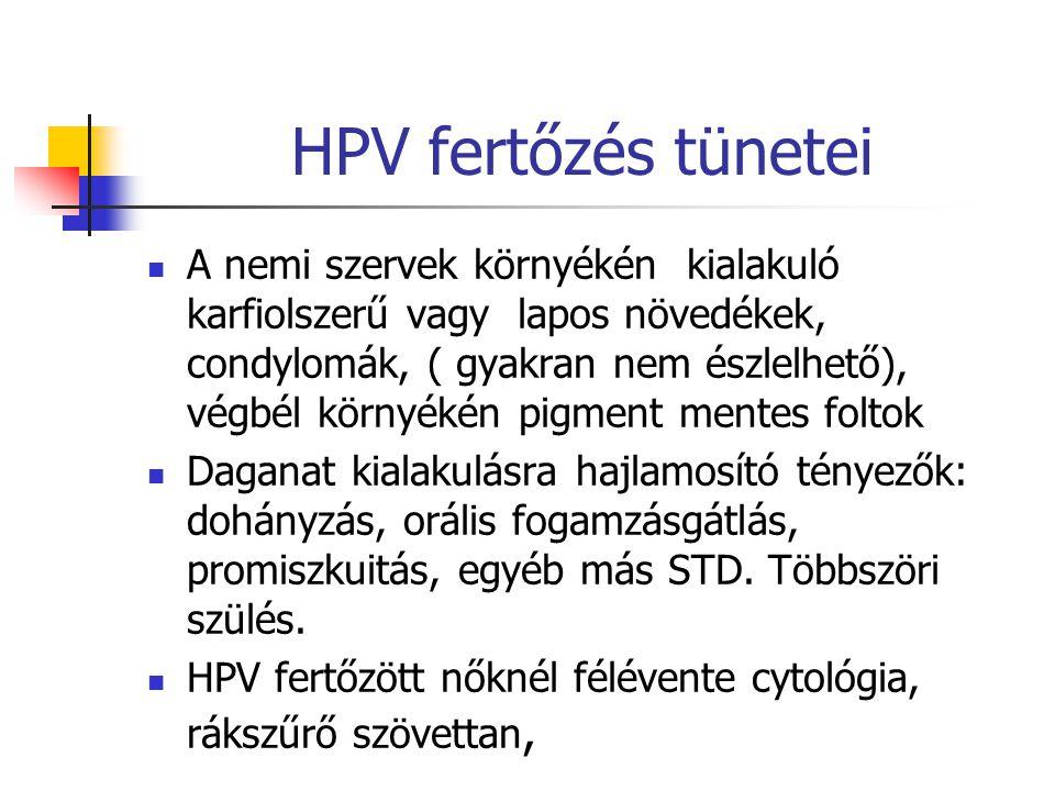 HPV fertőzés tünetei