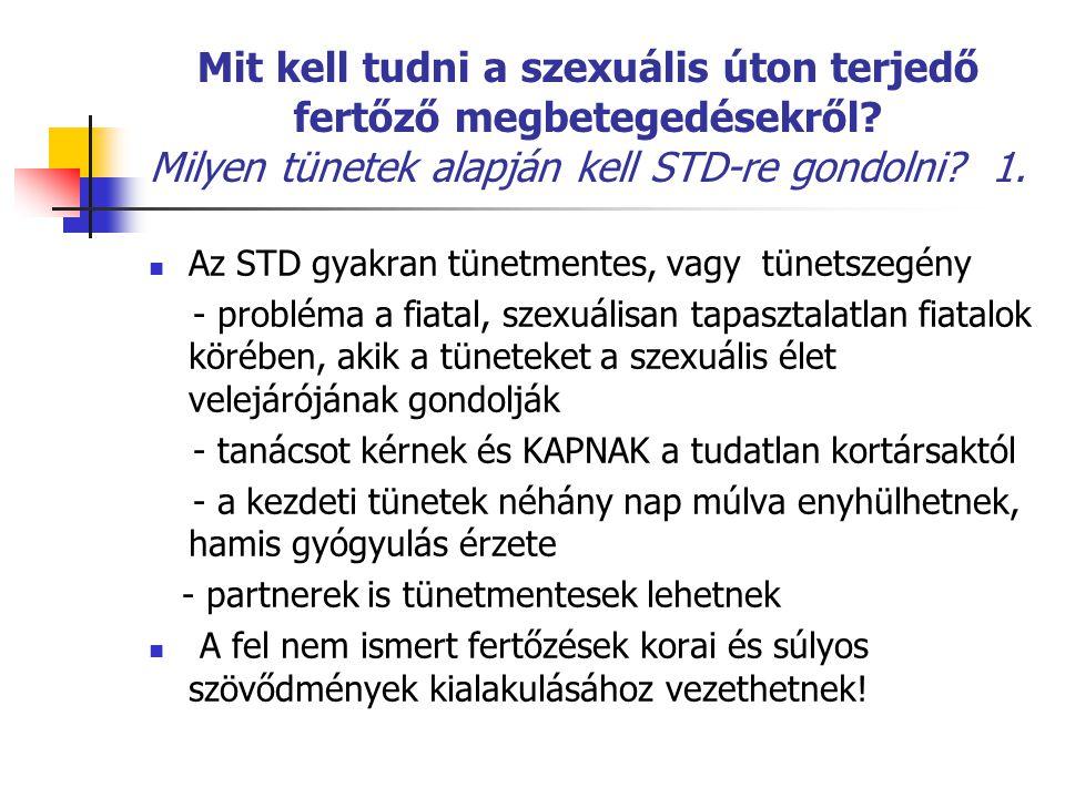 Mit kell tudni a szexuális úton terjedő fertőző megbetegedésekről