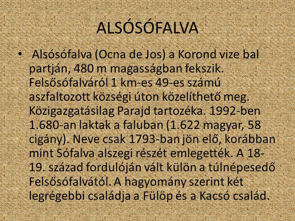 ALSÓSÓFALVA